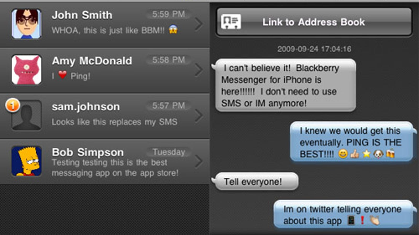 Ping is Like a Free SMS Client For iPhone and iPod Touch Users