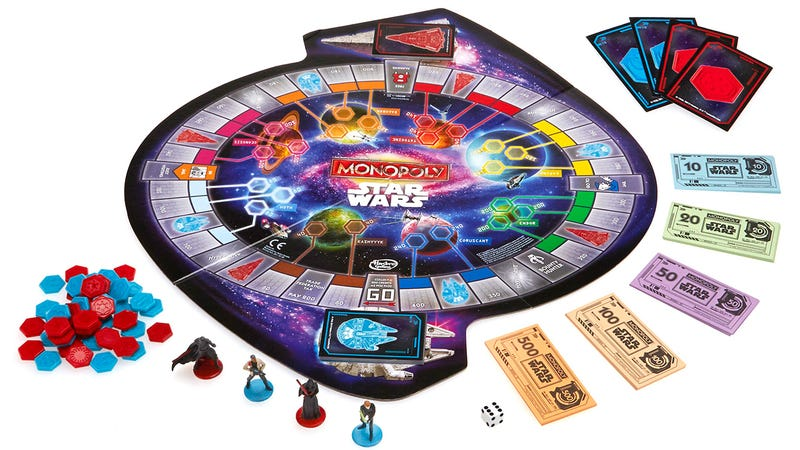Illustration for article titled A New Version of Star Wars Monopoly Swaps Tophat Tokens for Jedis