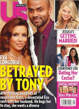 Illustration for article titled This Week In Tabloids: Eva Longoria's Husband Has Text Affair