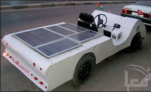 Illustration for article titled Palestinian made solar car/cart