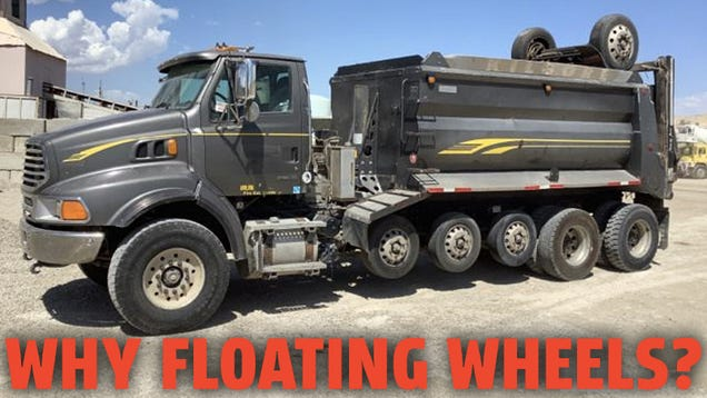 Why Some Trucks Have Those Extra Wheels That Don't Always