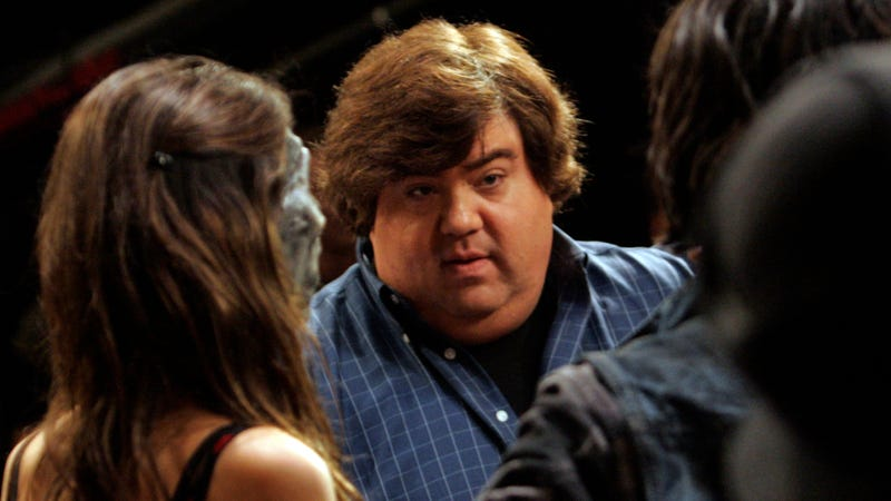 Schneider on the set of Victorious in 2009