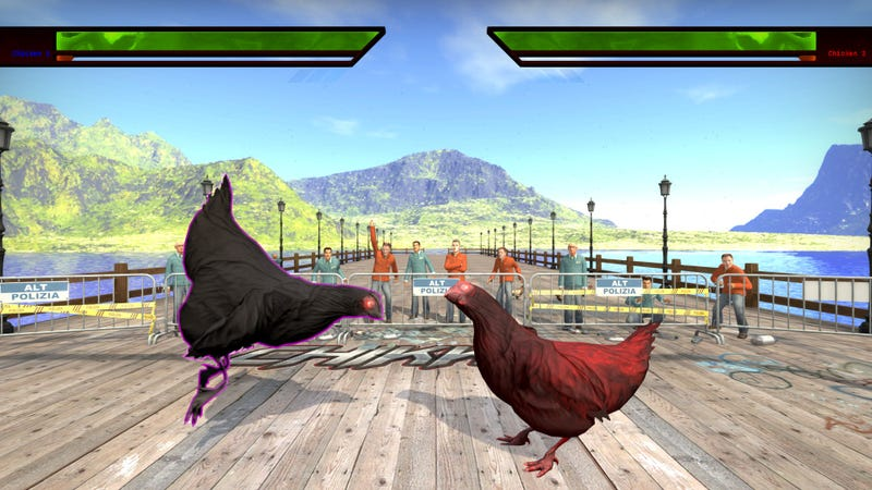 Illustration for article titled Modder Turns Counter-Strike Into Chicken-Based Tekken Parody