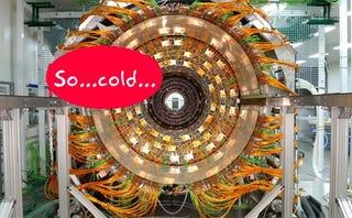Illustration for article titled LHC Repair Update: Temperature Must Be Raised so Repairmen Don't Die