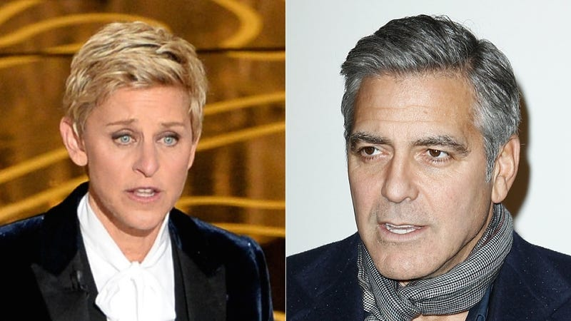 Illustration for article titled Ellen Degeneres Has the Real Scoop on George Clooney