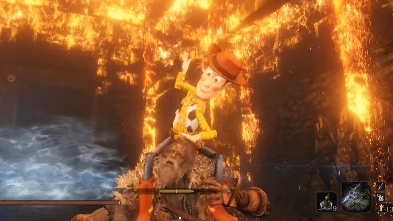 Illustration for article titled Sekiro Mod Turns Toy Story's Woody Into A Killer