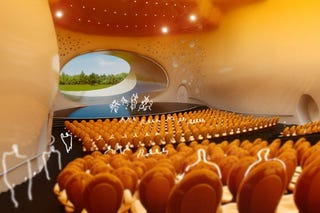 Illustration for article titled This Concert Stage Backdrop Is Actually a Window