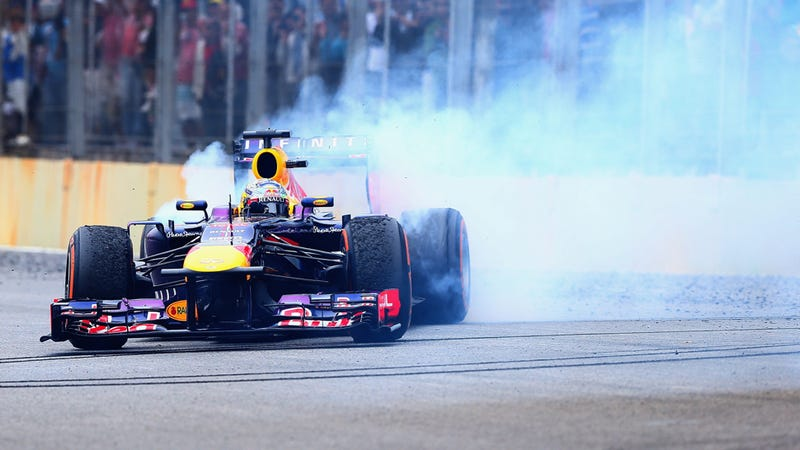 Illustration for article titled Donuts Now Allowed In Formula One, But Only For Winners