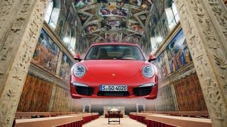 Illustration for article titled Porsche Is Renting The Vatican's Sistine Chapel