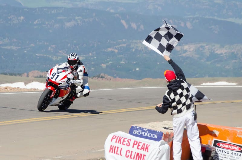 Illustration for article titled The Pikes Peak International Hill Climb Just Banned Sportbikes