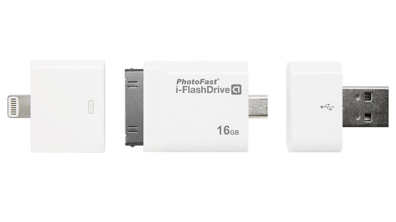 Illustration for article titled Four Different Connectors Let This Flash Drive Connect To Any Device