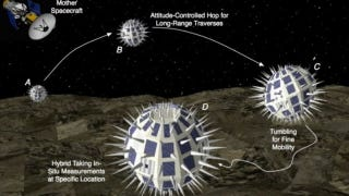 """Illustration for article titled NASA's Developing Robotic """"Hedgehogs"""" to Explore a Martian Moon"""