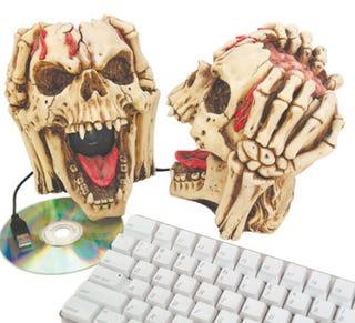 Illustration for article titled Exposed Brain Speaker Skulls Complement Any Aesthetic