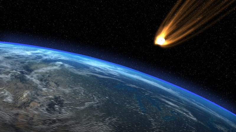 Illustration for article titled Were woolly mammoths and saber-tooth cats wiped out by a giant impact from space?