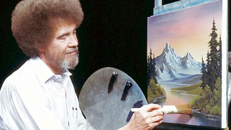 Illustration for article titled Study the happy little numbers with a statistical analysis of Bob Ross' Joy Of Painting
