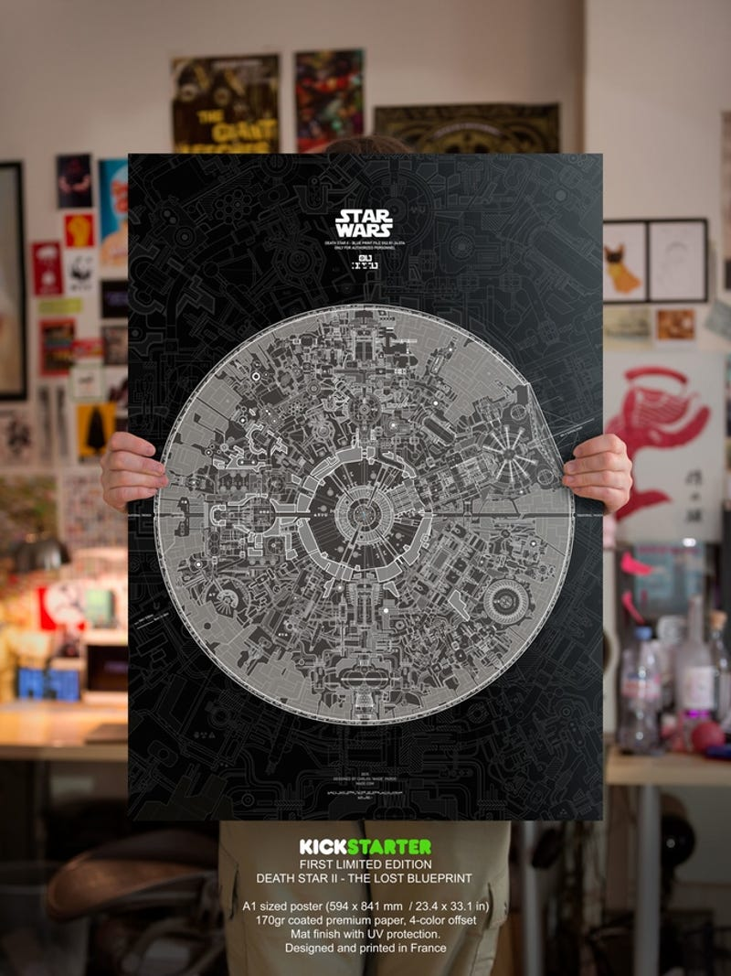 Wow This Poster Of The Death Star Blueprints Is Insane - Death star blueprints
