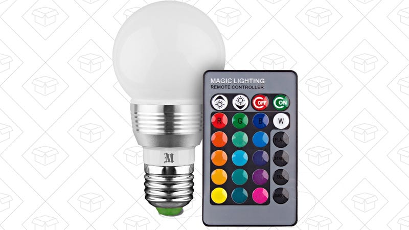 Massimo LED Color Changing Light Bulb, $8 with code RGBLITE3