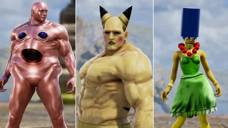 Illustration for article titled Los Simpson, penes y Thanos: estas son las creaciones de personajes más raras deSoulCaliburVI
