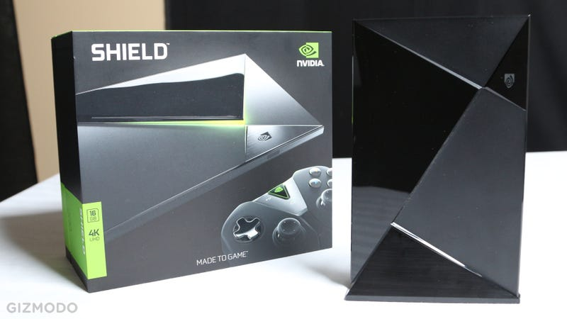 Illustration for article titled Nvidia Shield Console Hands-On: Yep, That's One Sleek Set Top Box