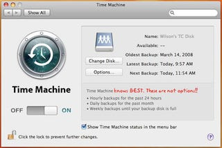 Illustration for article titled Question of the Day: Do Hourly Time Machine Backups Piss You Off?