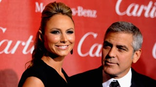 Illustration for article titled George Clooney Gives Stacy Keibler the Side-Eye