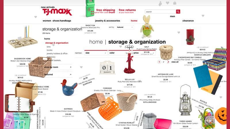 2c48a872ce TJMaxx says visitors to its website can now experience the utter disarray  of its stores from