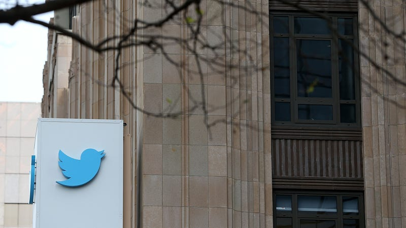 A sign is posted on the exterior of the Twitter headquarters on February 5, 2014, in San Francisco, California.