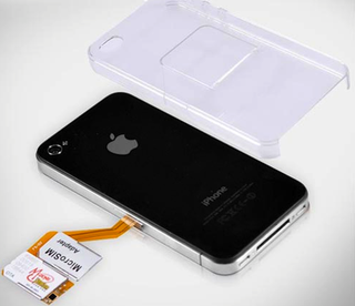 Illustration for article titled iPhone 4 Case Comes With Built-In Dual-SIM Adapter