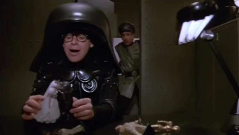 This article has nothing to do with Spaceballs or Dark Helmet. But it does include a Darth helmet.