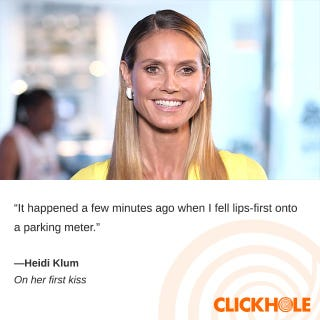 Illustration for article titled Heidi Klum said WHAT?!