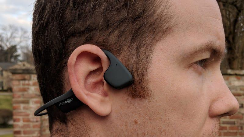 Aftershokz Trekz Air Bone Conduction Headphones   $120   AmazonAftershokz Trekz Titanium Bone Conduction Headphones   $80   Amazon