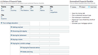 Illustration for article titled This Tool Creates a Personalized Financial To-Do Based on Your Age