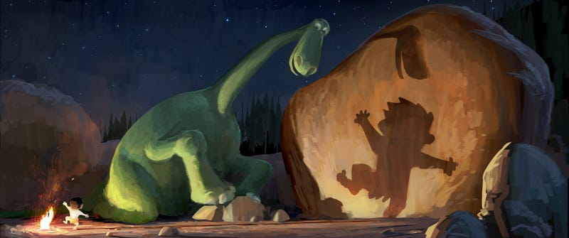 Illustration for article titled Pixar's Good Dinosaur is an alt-history where the asteroid never hit