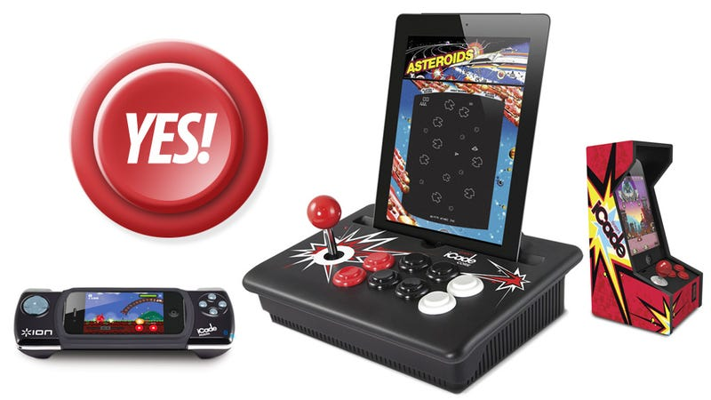 Illustration for article titled The Rad iCade Mobile, iCade for iPhone and iCade Core Just Need Rad Games