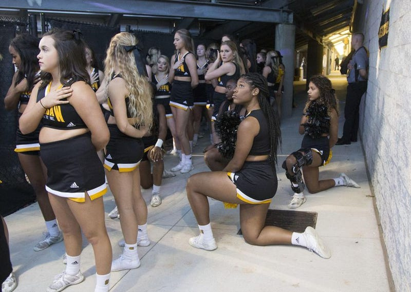 Illustration for article titled 4 Out of 5 Kennesaw State University Cheerleaders Who Protested During National Anthem Cut From 2018 Squad