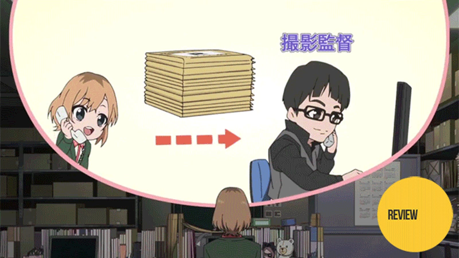 Shirobako is an anime about making anime