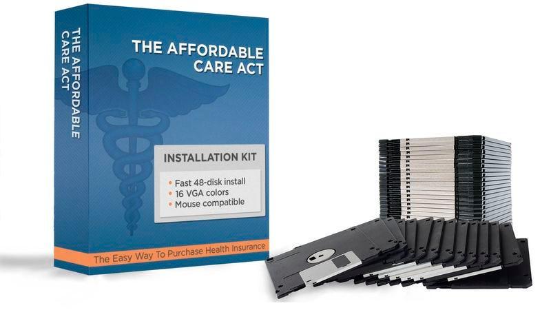 Illustration for article titled New, Improved Obamacare Program Released On 35 Floppy Disks