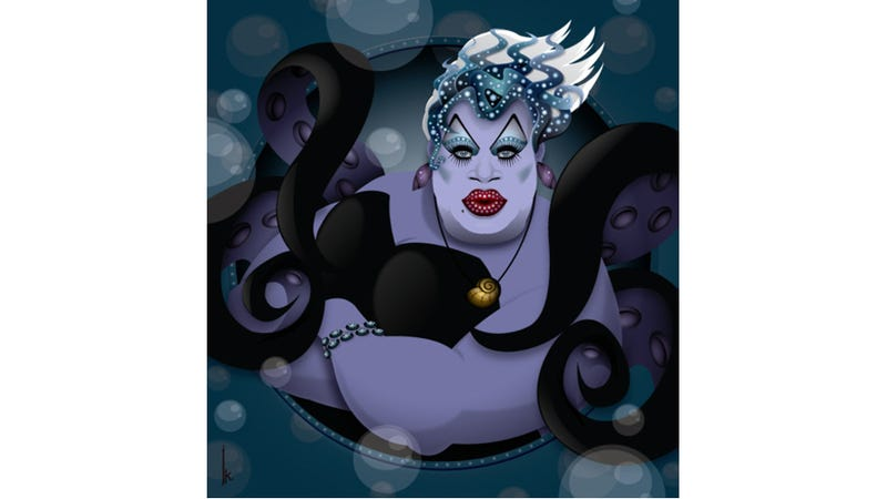 Illustration for article titled The Queens of Drag Race as Disney's Most Venomous Villainesses