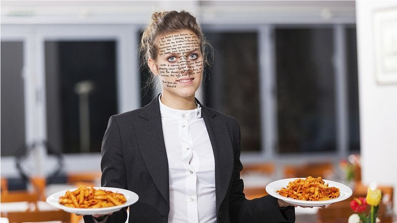 Illustration for article titled Get The Tissues Ready: The Note A Customer Wrote On This Waitress's Face Is Truly Beautiful