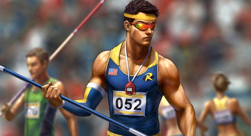 Illustration for article titled The Latest Silly Infinite Crisis Costume Is Track & Field Robin