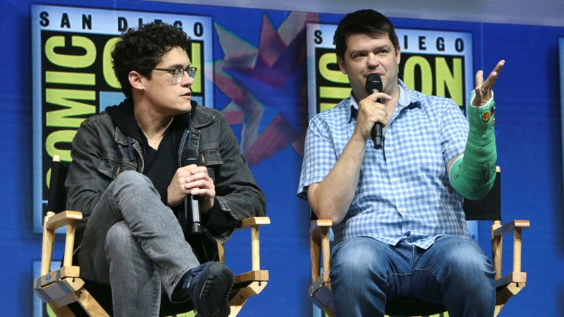 Phil Lord and Chris Miller at San Diego Comic-Con 2018 talking The Lego Movie 2.
