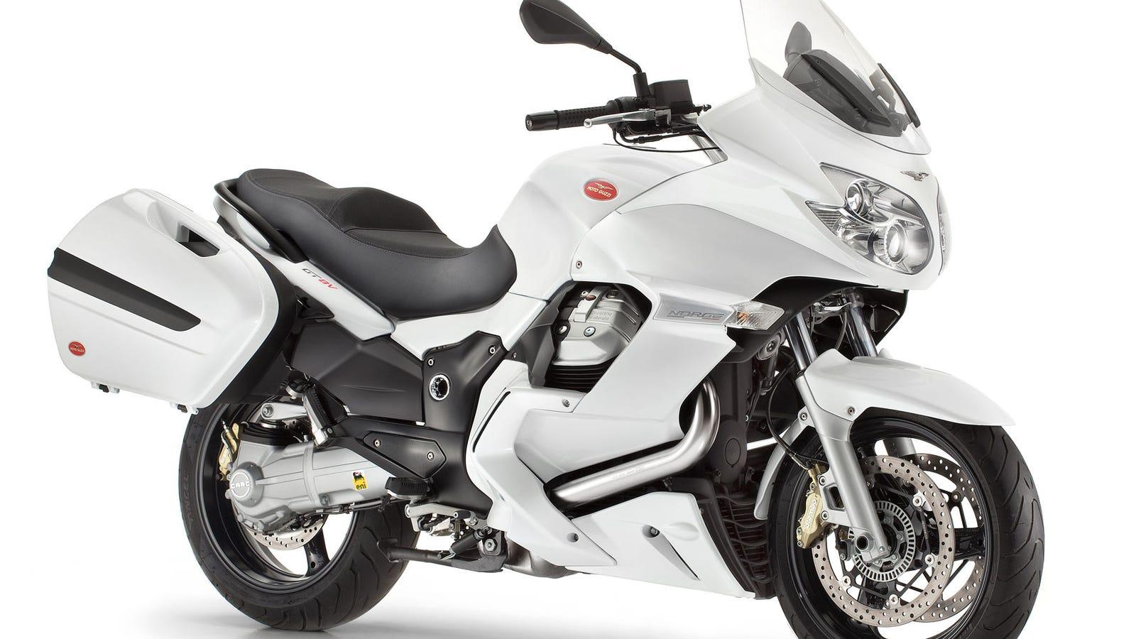White Transverse Italian V Twin