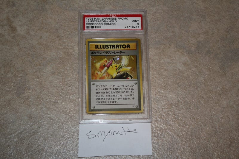 Illustration for article titled The rarest Pokémon card in the world is on eBay right now