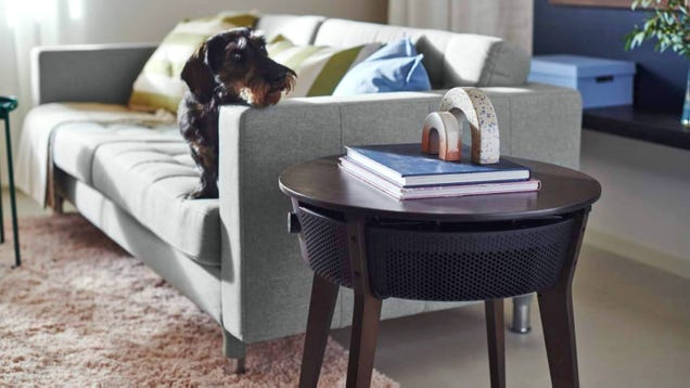 Ikea s First Smart Air Purifier Comes Camouflaged as a Side Table
