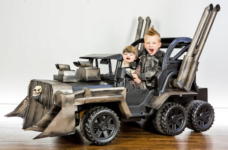 Illustration for article titled Your Halloween Costume Will Never Be As Amazing As This Mad Max Power Wheels