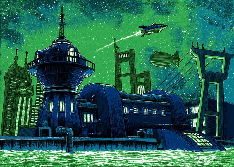 Illustration for article titled Quiet illustrations of Serenity and Planet Express Headquarters will fill you with nostalgia for places that don't exist