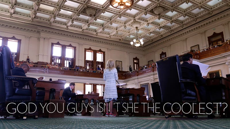Illustration for article titled Wendy Davis and Her Sneakers Are Basically Running Everything Now