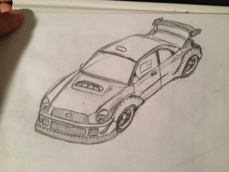 "Illustration for article titled My ""RWB"" WRX sketch."