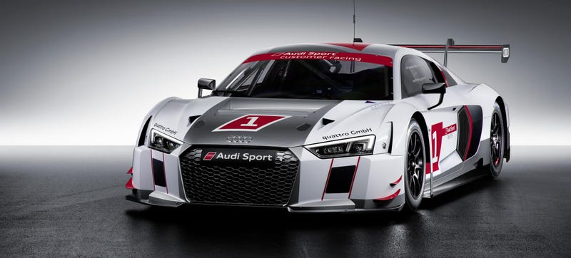 Illustration for article titled This Is The Audi R8 LMS, Audi's New Safety-Focused GT3 Race Car