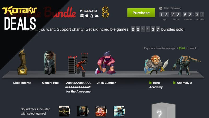 Illustration for article titled Humble Bundle, iPhone Games, Ouya, Link Between Worlds [Deals]